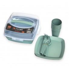 Набор посуды для пикника Irak Plastik SP-180, Хаки