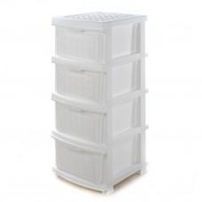"""Комод пластиковый на 4 ящика R-Plastic """"Компакт Плюс"""", Белый"""