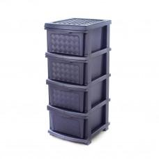 """Комод пластиковый на 4 ящика R-Plastic """"Компакт Плюс"""", Фиолетовый"""