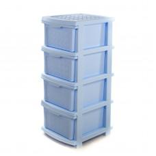 """Комод пластиковый на 4 ящика R-Plastic """"Компакт Плюс"""", Голубой"""