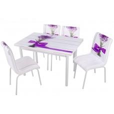 Комплект обеденной мебели Базилик (раскладной стол 110*70 см и 4 стула)