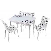 Комплект обеденной мебели Эллипс (раскладной стол 110*70 см и 4 стула)