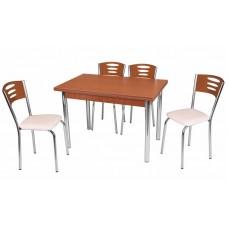 Комплект обеденной мебели Грецкий Орех (раскладной стол 110*70 см и 4 стула)