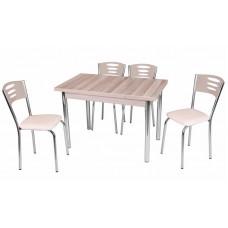 Комплект обеденной мебели Кордоба (раскладной стол 110*70 см и 4 стула)