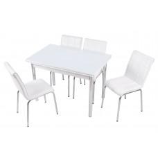 Комплект обеденной мебели Кристалл (раскладной стол 110*70 см и 4 стула)