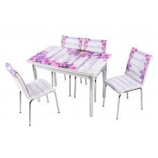 Комплект обеденной мебели Лаванда (раскладной стол 110*70 см и 4 стула)
