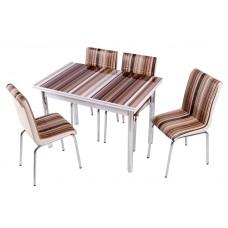 Комплект обеденной мебели Мока (раскладной стол 110*70 см и 4 стула)