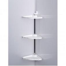 Полка для ванной 3 яруса угловая Prima Nova N19, Белая