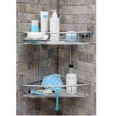 Полка для ванной 2 яруса угловая Prima Nova N31-30
