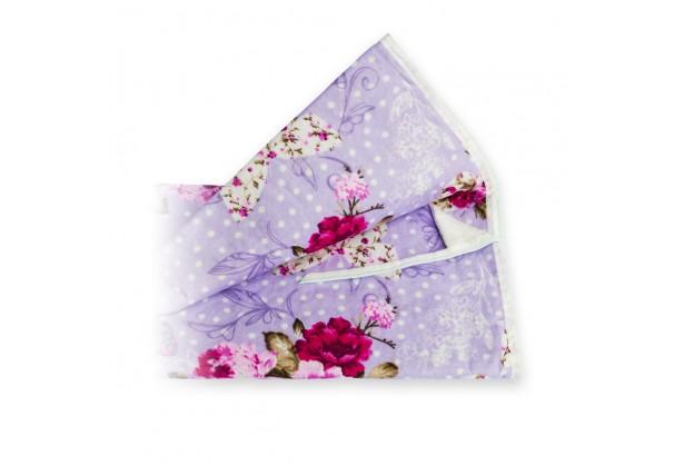 Чехол для гладильной доски с прослойкой из войлока 140х50 см Фиолетовые Цветы