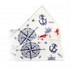 Чехол для гладильной доски с прослойкой из войлока 140х50 см Морской