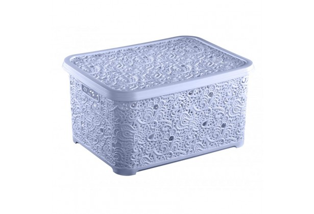Корзина 10 л Ажур Elif Plastik 377, Голубой