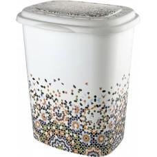 Корзина для белья 45 л Elif Plastik 339, Мозаика