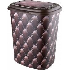 Корзина для белья 45 л Elif Plastik 339, Кожа коричневая