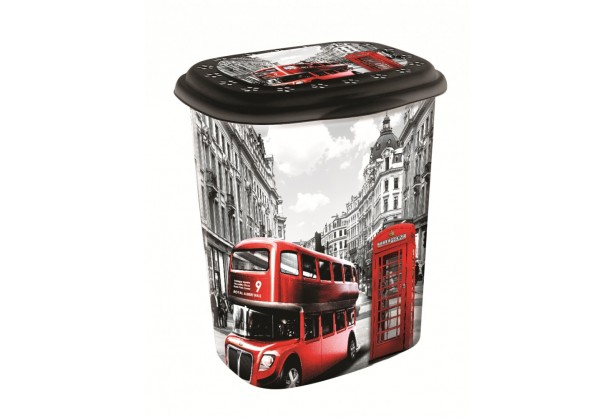 Корзина для белья с крышкой 45 л Elif Plastik 339, Лондон