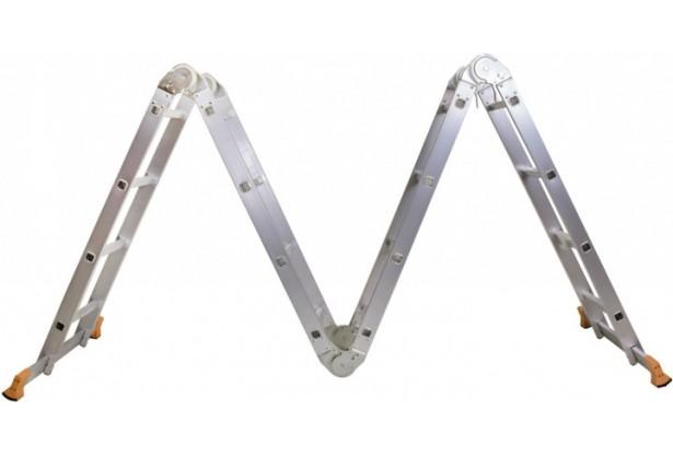 Лестница трансформер алюминиевая 4х4 Aloft MLA-44