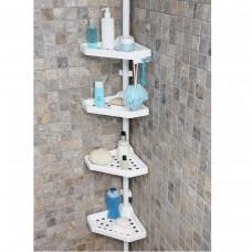 Полка для ванной на 4 яруса угловая Prima Nova N02, Белый