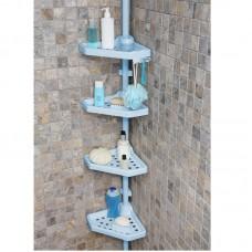 Полка для ванной на 4 яруса угловая Prima Nova N02, Голубой