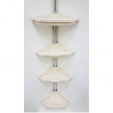 Полка для ванной 4 яруса угловая Prima Nova N17, Бежевый