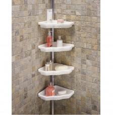 Полка для ванной 4 яруса угловая Prima Nova N17, Белый