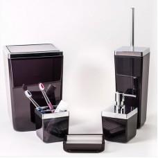 Набор аксессуаров для ванной Toskana Prima Nova M-SAS01, Прозрачно-черый