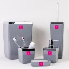 Набор аксессуаров для ванной Toskana Prima Nova M-SAS01, Серый