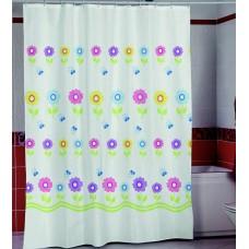 Шторка для ванной Радужные Цветы Miranda