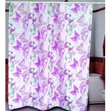 Шторка для ванной Пурпурные Мотыльки Miranda