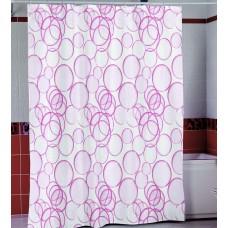 Шторка для ванной Розовые Шары Miranda