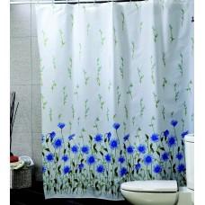 Шторка для ванной Синие Астры Miranda