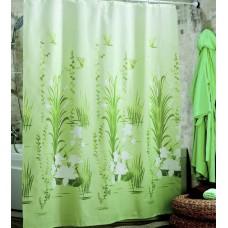 Шторка для ванной Зеленый Лотос Miranda